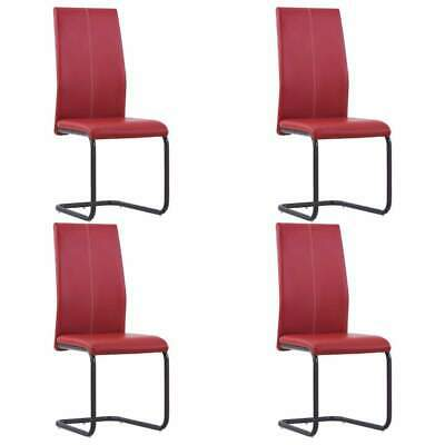 AU216 • Buy Cantilever Dining Chairs 4 Pcs Red Faux Leather