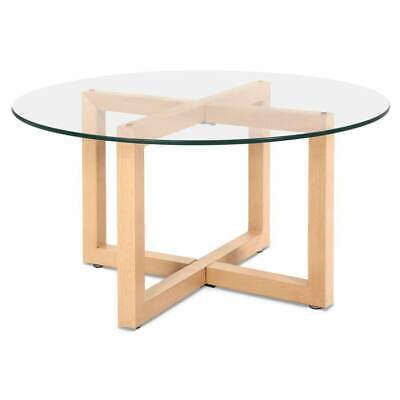 AU138 • Buy Tempered Glass Round Coffee Table - Beige