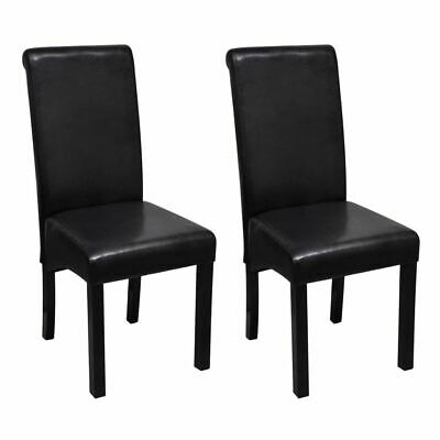 AU174 • Buy Dining Chairs 2 Pcs Black Faux Leather