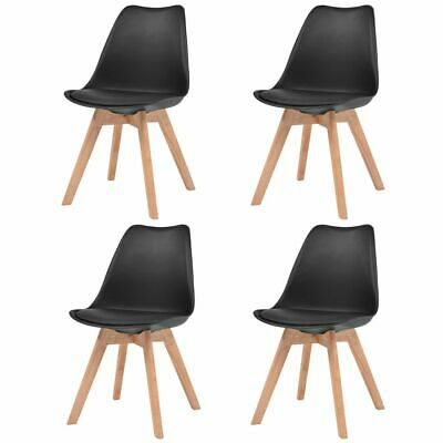 AU214 • Buy Dining Chairs 4 Pcs Black Faux Leather