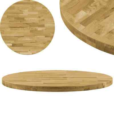 AU162 • Buy Table Top Solid Oak Wood Round 44 Mm 700 Mm