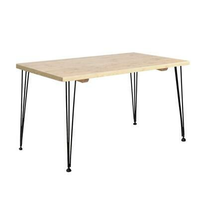 AU194 • Buy Dining Table 4 Seater Tables Wood Industrial Scandinavian Timber Metal