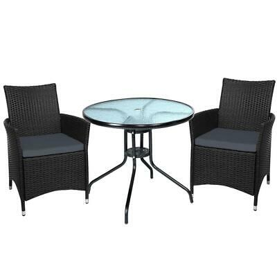 AU313 • Buy Outdoor Furniture Dining Chair Table Bistro Set Wicker Patio Setting Tea Coff...