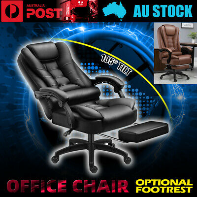 AU142.50 • Buy Gaming Chair Office Chair Computer Seat PU Leather Executive Footrest Elastic