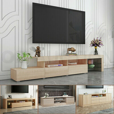 AU279.95 • Buy 160-240cm TV Stand Bench Table Cabinet Entertainment Unit 3 Push-Opened Drawers