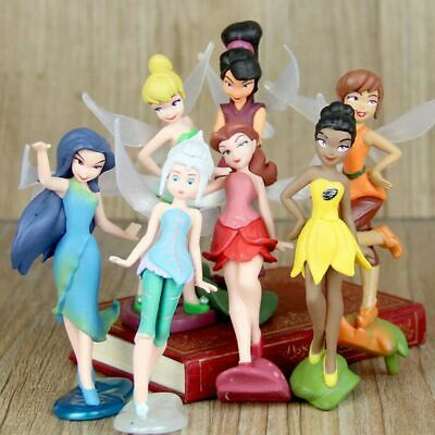 £8.99 • Buy Tinkerbell Tinker Bell Fairy Girls Dolls 7pcs Figures Cake Topper Party Toy Gift