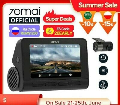 AU159.25 • Buy  Dash Cam 4K A800S Dual Sight 70mai A800S GPS ADAS Front And Rear Car DVR 22160P