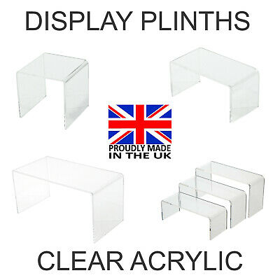 £6.30 • Buy Acrylic Display Shelves - Retail Shop  Stands Risers Clear Perspex Plinths