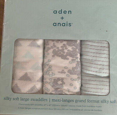 £25.99 • Buy Aden & Anais Silky Soft Large Muslin Swaddles Pack Of 3 120cm X 120cm