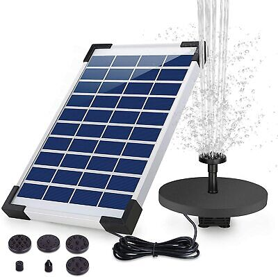 £24.99 • Buy Solar Water Fountain With Battery Backup