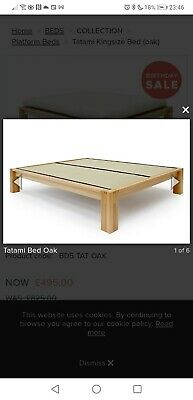 £50 • Buy Solid OAK TATAMI KING SIZE BED Frame With Tatami Mats Low Starting Price Must Go