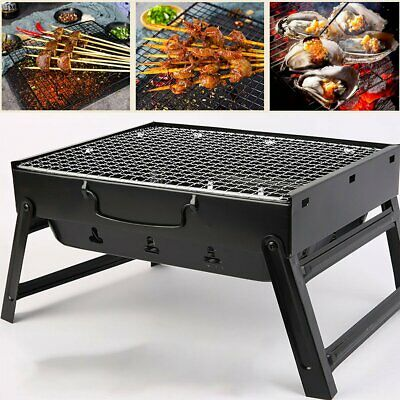 $ CDN55.73 • Buy Outdoor Portable Foldable BBQ Grill Stainless Steel Charcoal Barbecue Camping St
