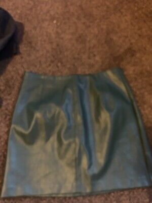 £3 • Buy Oasis Green Leather Skirt Size 10