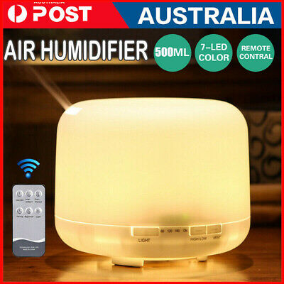 AU20.49 • Buy 500ml Essential Air Mist Oil Aroma Diffuser Ultrasonic Humidifier Aromatherapy D