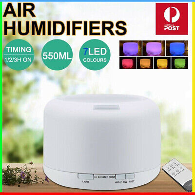 AU20.99 • Buy Essential Air Mist Oil Aroma Diffuser Ultrasonic Humidifier Aromatherapy 500mL