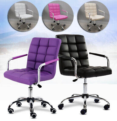 AU189.22 • Buy Lux Computer Desk Chair Office Executive Task Chairs PU Swivel Chair With Wheels