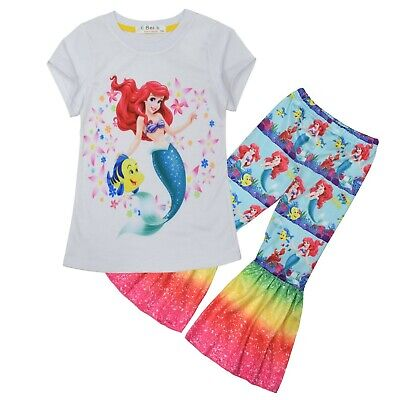 £12.99 • Buy Mermaid Girls Kids T Shirts T-Shirts Pants Tops Trousers Suits Clothes Sets UK