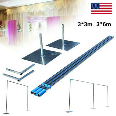 $167.01 • Buy 3x3m/3x6m Wedding Party Backdrop Stand Pipe Kit Stainless Telescopic Frame Stand