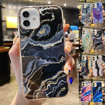 AU9.39 • Buy Marble Case For IPhone 11 12 Pro Max XS XR 7 8 + SE2 Shockproof Silicone Cover