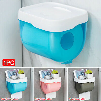 £7.99 • Buy Waterproof Bathroom Wall Mounted Toilet Paper Roll Holder Box Cover