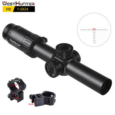 $119.88 • Buy Westhunter HD 1-6x24 IR Rifle Scopes Military Tactical Hunting Shooting Sights