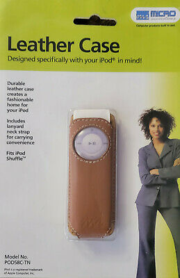 £1.45 • Buy Ipod Shuffle Case Leather Light Brown New In Sealed Box