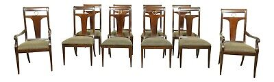 $2395 • Buy L52407EC: Set Of 10 LINEAGE Regency Style Mahogany Dining Room Chairs