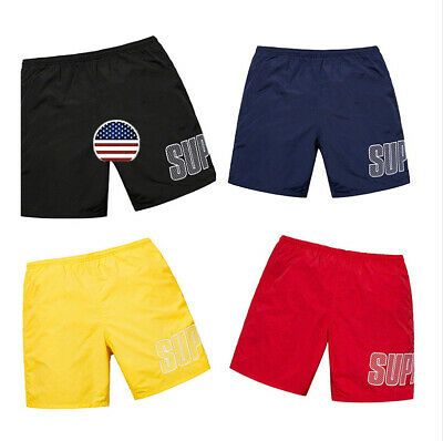 $53.98 • Buy For Supreme Men Logo Embroidered Casual Shorts Beach Pants Gym Pants Shorts Hot