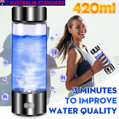 £25.39 • Buy 420ml Portable Hydrogen Rich Water Cup Maker Ionizer Generator USB Charger UK