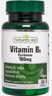 £5 • Buy Natures Aid Vitamin B6 100 Mg, Pyridoxine, Suitable For Vegans, 100 Tablets