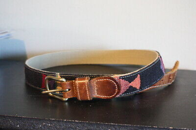 $22.95 • Buy A TAIL WE COULD WAG Woven Belt Mens Fish Trim 36 Cotton Weave Black Western