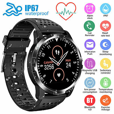 $47.98 • Buy Smart Watch Heart Rate ECG PPG Blood Pressure Waterproof For IOS Android IPhone