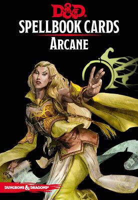 AU10.84 • Buy Dungeons And Dragons 5E RPG Revised Arcane Spell Deck (257 Cards) By Galeforce 9