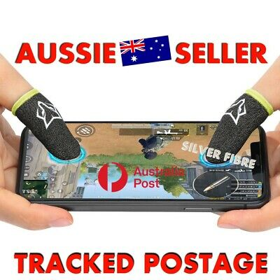 AU9.90 • Buy 2 Sweat-Proof Silver Fibre Finger Sleeve Mobile Gaming Sock Tracked Post