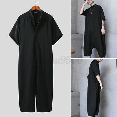 $27.50 • Buy Mens Fashion Short Sleeve Jumpsuit Romper Cargo Workwear Trousers Overalls Pants