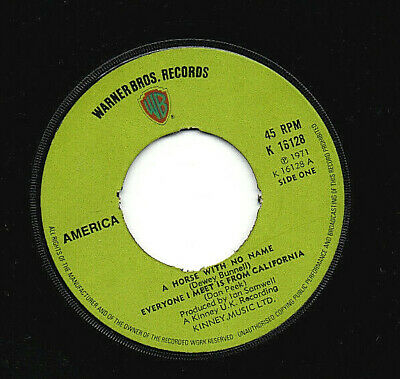 £6.99 • Buy America ~ A Horse With No Name ~ 7  Vinyl Record ~ VG Condition ~ JUKE BOX READY