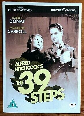 £2.99 • Buy The 39 Steps Alfred Hitchcock Robert Donat Madeleine Carroll Sunday Times Dvd