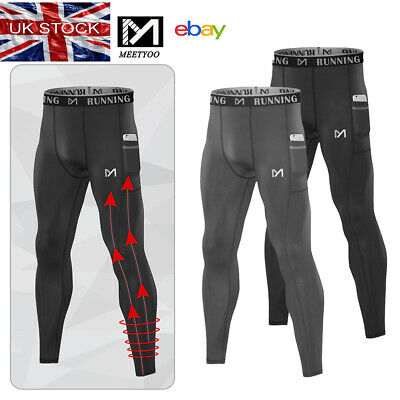 £10.99 • Buy Mens Compression Leggings Base Layer Lightweight Cycling Sports Pocket Pants
