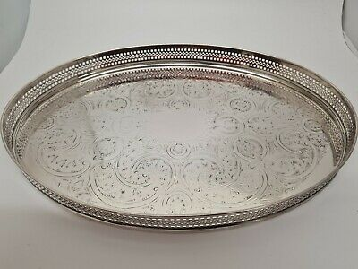 £20 • Buy Vintage Butler Cavalier Silver Plated Tray. 12  Long.