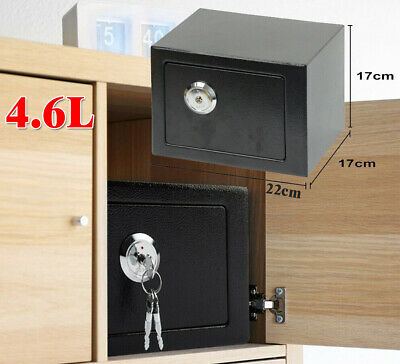 £22.79 • Buy Security Box 4.6L Deposit Money Cash Jewelry Home Safety Secure Locker With Keys