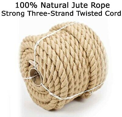 £1.19 • Buy Natural Jute Hessian Rope Twisted Cord Braided Boating Decking Camping 6 - 40mm