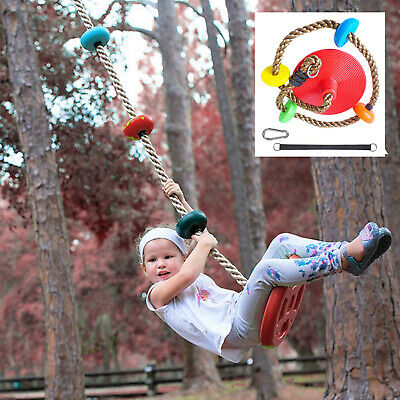 £22.76 • Buy Kids Climbing Rope Tree Disc Swing Seat Set Playground Indoor Outdoor Toys Gift