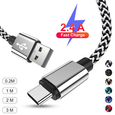 AU5.99 • Buy For Samsung Galaxy A12 A21s S21+ Type C USB C Data Charger Cable Cord 1M 2M 3M