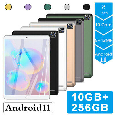 AU89.99 • Buy 8 Inch Android 11.0 Pad Tablet PC 10+256G WiFi Camera Dual SIM 4G-LTE Phablet
