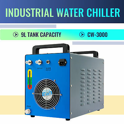 £188.99 • Buy CW-3000 Industrial Water Chiller For CO2 Glass Laser Tube Engraver Machine