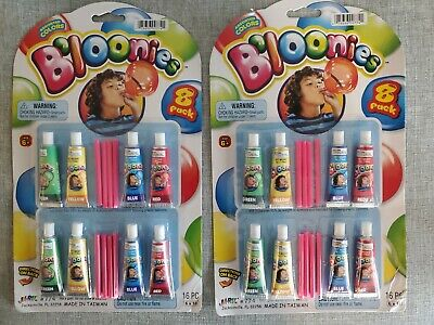 $ CDN12.58 • Buy Bloonies Blow Plastic Tube, Of Assorted Colors Party Balloons 2-pack