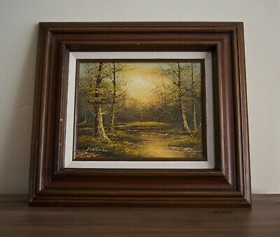 $ CDN107 • Buy Philip Cantrell Painting Fall Scene, Framed And Signed.