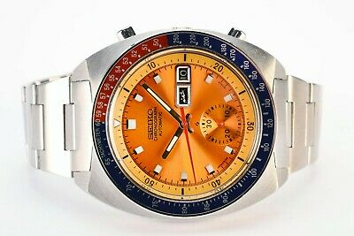 $ CDN1125.22 • Buy  Rare Vintage Seiko 6139-6002 Pogue Day Date Chronograph Automatic Steel Watch