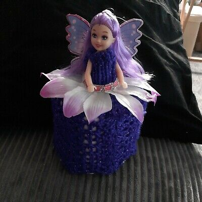 £5.75 • Buy Retro Toilet Roll Cover Doll Hand Knitted #3