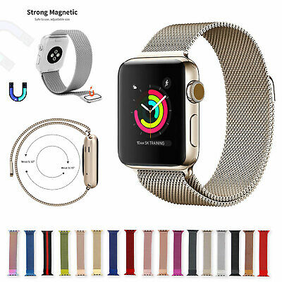 AU13.31 • Buy For Apple Watch Series 6 5 4 3 2 1 44mm 40 42 38 Milanese Loop Band Iwatch Strap